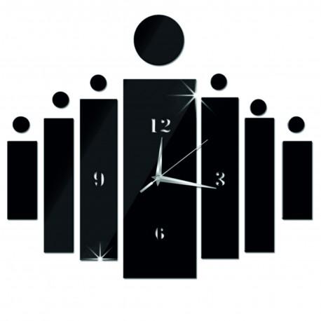 Nástěnné hodiny nalepovací jako dárek DIY HOJOKER l 3D hodiny