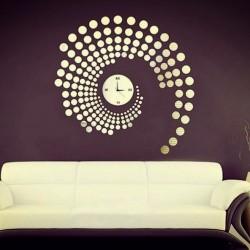 Hodiny na zeď nalepovací tečky zrcadlové nebo barvené PlexiPMMA PLLA