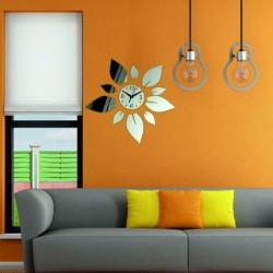 Moderní nástěnné hodiny zrcadlové barevné nástěnné hodiny KVĚT