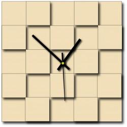 Moderní nástěnné hodiny čtverce (hodiny na stěnu z plastu) DEKOFER