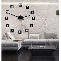 Velké nástěnné hodiny čtvercové (hodiny na stěnu z plastu) 2D DEKOR
