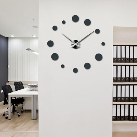Velké nástěnné hodiny tečka (moderní hodiny na stěnu) DEKORAJ