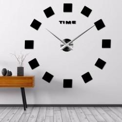 Nástěnné hodiny nalepovací ŠTRVORCE  3D