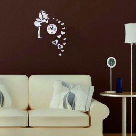 Nástěnné hodiny do dětského pokoje Víla lásky, 40x70 cm