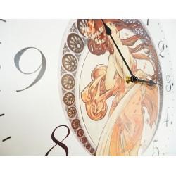 Nástěnné hodiny krásná panna MDF. Fi 30 cm
