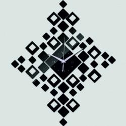 Nástěnné hodiny do obýváku čtverce nalepovací DIY HEUREKA