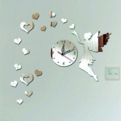 Nástěnné hodiny do dětského pokoje Létající srdce, 40x60 cm