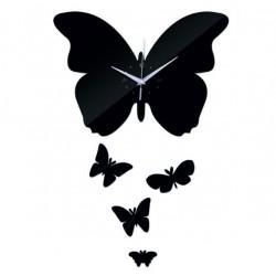 Nástěnné hodiny zrcadlové Motýli, 35x45 cm