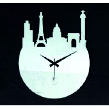Nástěnné hodiny moderní hrad hodiny na stěnu zrcadlo 30 x 30 cm ZÁMEK