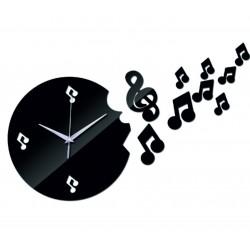 Nástěnné hodiny moderní noty 25 X 35 cm DIY MOZART
