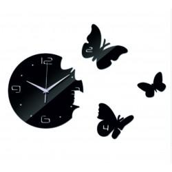 Nástěnné hodiny motýl DIY nalepovací hodiny 40x 40 cm EPSON