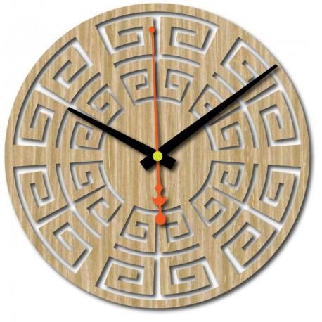 Nástěnné hodiny ze dřeva překližky 4 mm mořidlo BAREVNÉ