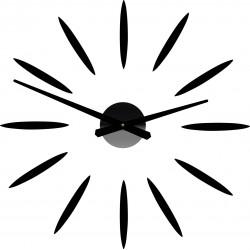 Nástěnné hodiny nalepovací Slunce Paprsky