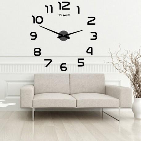 Nástěnné hodiny velké nalepovací plexisklo  2D DIY PALETTE