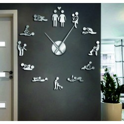 Nástěnné hodiny kamasutra zrcadlové DIY 3D HROBESO