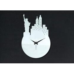 Nástěnné hodiny zrcadlo nalepovací socha svobody DIY PALLET 25 x 36 cm