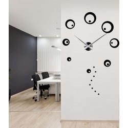 Hodiny na zeď velké kruhy nalepovací DIY SVARCBACH