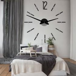 Moderní nástěnné hodiny nalepovací SOFIA XXL DIY samolepka