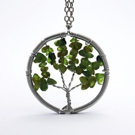 Přívěsek z polodrahokamu - strom - olivín