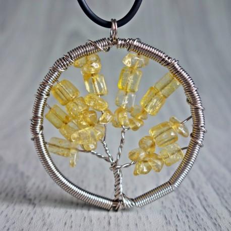 Přívěsek z polodrahokamu - strom - citrín