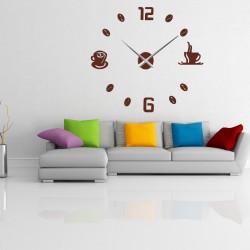 Nástěnné hodiny nalepovací COFFE PLEXI