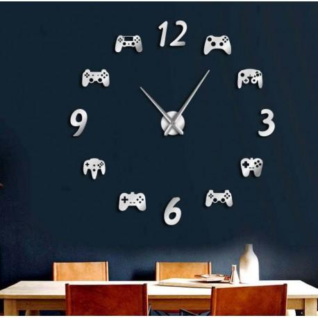 Nástěnné hodiny videohra 3D DIY XXL