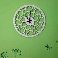 SENTOP Nástěnné hodiny z dřevěné překližky PR0158 topol světlé