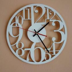 STYLESA hodiny na stěnu z dřevěné překližky FILP PR0160 černé