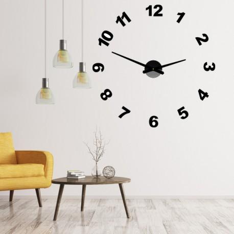 Designové nástěnné hodiny nalepovací PLEXI čísla OPTIC
