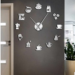 Nástěnné hodiny zrcadlo HOPARTI 3D DIY hodiny jako obraz.