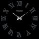 Nástěnné hodiny římské DIY 3D hodiny na zeď jako obraz HUGO
