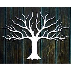 Dřevěná dekorace obraz na stěnu z překližky větvičky stromu podzim Rozměr: 300 x 411 mm