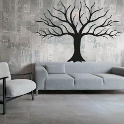 Obraz na zeď dřevěná dekoráciaz překližky větvičky stromu podzim Rozměr: 600 x822 mm