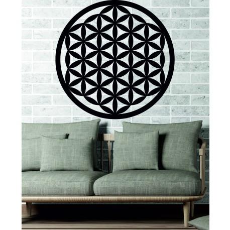 Dřevěná mandala jako obraz na stěnu dekorace z překližky MANDALA