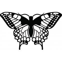 Noční motýl vyřezávaný z dřevěné překližky L 420X 257 mm LEOPARTID