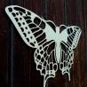 XL 750 X 459 mm. Noční motýl vyřezávaný z dřevěné překližky LEOPARTID