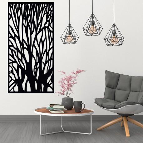 Dřevěný obraz na stěnu silueta větve z překližky strom FIBIS