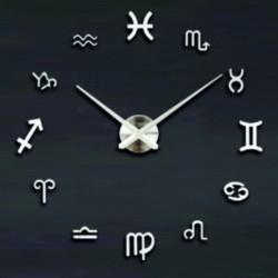 Velké nástěnné hodiny svěží vánek. Stříbrné zrcadlové.
