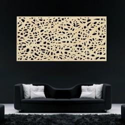 Dřevěný obraz na stěnu z překližky Topol flek