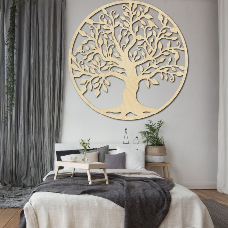 Dekorace na zeď strom života dřevěný obraz z překližky RODINA