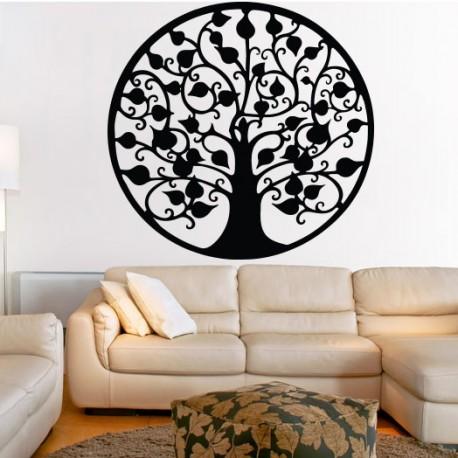 Dekorace na zeď strom hojnosti dřevěný obraz z překližky hojnost