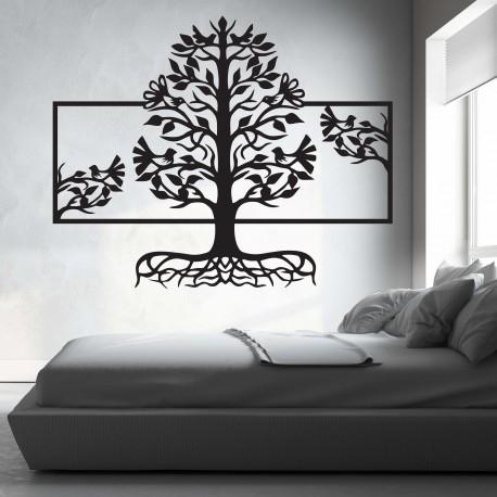 Dřevěný obraz na stěnu kořeny strom z dřevěné překližky topol Malfa