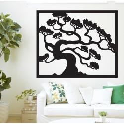Dřevěný obraz na stěnu strom bonsai dřevěné překližky topol   Drázský