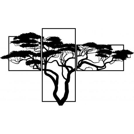 Dřevěný obraz na stěnu bonsají Obraz se skládá ze tří částí SKALICA
