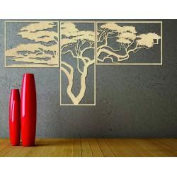 Dřevěný obraz na stěnu Hana Obraz se skládá ze tří částí POLONGE