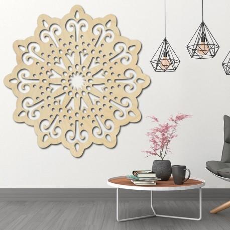 STYLESA moderní obraz na stěnu květ ze dřeva překližky BELFON černý