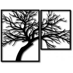 STYLESA Dřevěný obraz na stěnu překližka Obraz se skládá ze dvou částí OLGA i černý PR0221