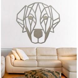 Styles moderní obraz na stěnu pes z překližky PR0229 HAFFF černá