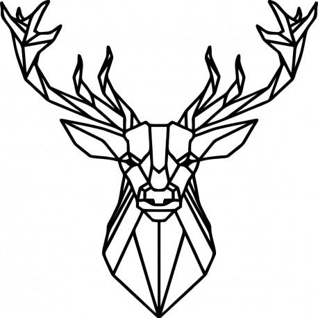 STYLESA vyřezávaný dřevěný obraz jelen PR0232 černá