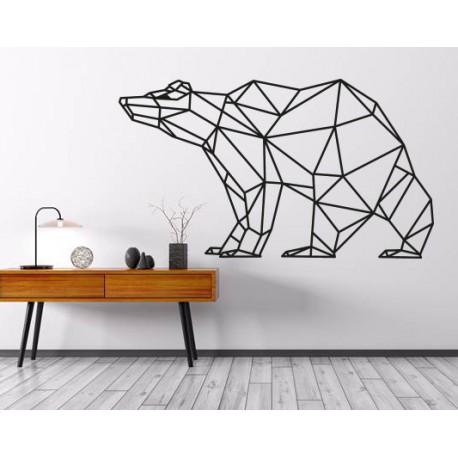 SENTOP Obraz na stěnu geometrické tvary medvěd PR0244 hnědý